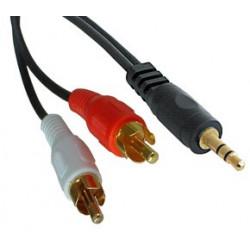 Cavo audio jack-RCA M/M...