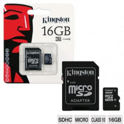 Kingston microSDHC 16GB,...